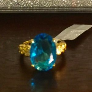 Jewelry - Gorgeous Simulated Blue Diamond Ring